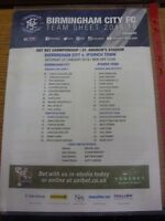 23/01/2016 Colour Teamsheet: Birmingham City v Ipswich Town (minor creasing/fold