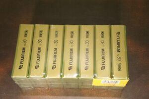 Lot of 7 New Sealed FujiFIlm VHS-C Premium quality 30min SP 90 min EP TC-30