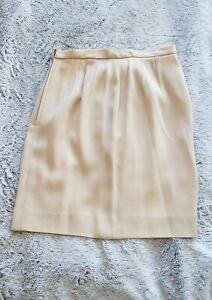 Anne Klein ll Cream Colored Pencil Skirt Size 6