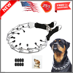 """Dog Prong Training Collar, Stainless X-Large,4mm,23.6-Inch,18-22""""Neck Black"""