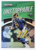 2019 Prizm Aaron Donald Unstoppable Green Refractor Insert SP No. UN-AD