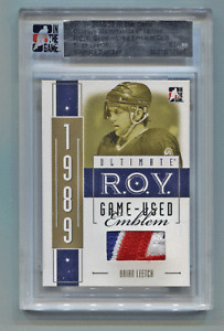 2005-06 ITG Ultimate Gold ROY Emblem Patch Brian Leetch #1/1 New York Rangers