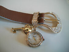 Western ice out buckle designer-style fashion charm watch key heart watch