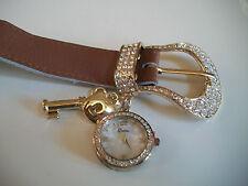 Western ice out buckle designer-style fashion charm watch key heart watch