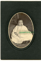 Antique Photo - Cute Baby With Light Eyes Wearing Long Gown