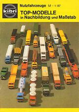KIBRI CATALOGUS Nutzfahrzeuge M = 1:87/1980