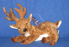 TY ROXIE the BLACK NOSE REINDEER BEANIE BABY - MINT with MINT TAGS