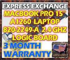 "EXCHANGE SERVICE: MACBOOK PRO 15"" A1260 820-2249-A 2.4GHZ LOGIC BOARD 661-4960"