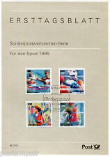 ALLEMAGNE FEDERALE, RFA, 1995, SPORTS, 4 timbres, 1609/1612, DOCUMENT 1° JOUR