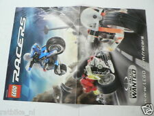 LEGO BROCHURE FLYER CATALOG TOYS LEGO RACERS DUTCH 2 PAGES 068