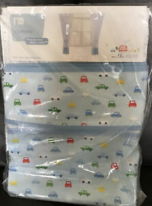 Mothercare On The Road Tab Top Unlined Curtains With Tie Backs 168cm X 137cm 🚙