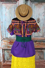Mexican Eagle Hand Embroidered Juquila Blouse Oaxaca Traditional Romantic Fiesta