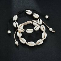 Charm Boho Natural Seashell Handmade Braided String Rope Bracelet Women Beach