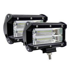 "2x 5"" CREE LED Pod Work RV Light Bar Flood Beam Off-Road Driving Fog Lights 12V"