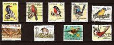 AUSTRALIA 9 sellos en los diferentes especies y d grupos'pájaros 1m 130