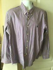 Ralph Lauren Men's Striped Classic Fit XL Long Sleeve Button Front Shirt