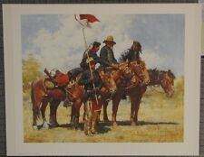 "Howard Terpning ""Army Regulations"" S/N L/E  610/1000 RARE mint w/ COA & Envelope"
