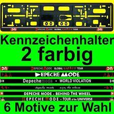 DEPECHE MODE KFZ KENNZEICHENHALTER NUMMERNSCHILDHALTER - 6 MOTIVE ZUR WAHL *