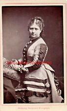 CDV Mrs Nye Chart Bustle Dress Theatre Royal Brighton Louis Bertin 1870s