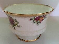 Elizabethan Bone China Fluted Sugar Bowl with Red/Yellow Roses