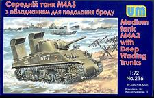 UM-MT Models 1/72 American M4A3 SHERMAN TANK with DEEP WADING TRUNKS