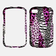 2D for Blackberry Q10 Pink Safari Rubberized snap on hard  Case Cover