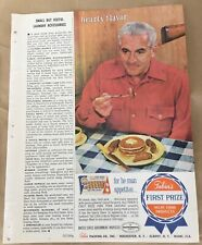 Tobin's first prize meat sausages print ad 1963 vintage 1960s retro art food