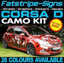 Vauxhall Corsa D Camo Gráficos Pegatinas Rayas calcomanías OPEL VXR SXI GSI 1.2 1.4