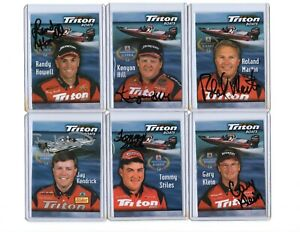 Lot of 45 Signed Autographed Professional Angle Fishing Cards