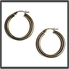 9ct Gold hinged bar hoop earrings 25mm x 3mm ER936 jewellery company
