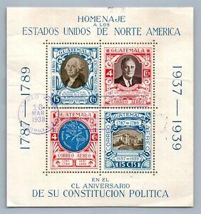 GUATEMALA STAMPS 1939 HOMENAJE A LOS ESTADOS UNIDOS DE NORTE AMERICA