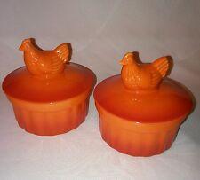 Ramekin Brûlée Dish New Swiss Pro Cookware Orange Chicken on Lid  Mini Casserole