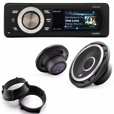"""Aquatic AV Bluetooth Stereo LCD kit w/ Premium 6.5""""  Speakers 98-13 Harley FLTR"""