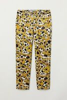 Women's MOSCHINO x H&M Gold Chain Patterned Pants Chino Trousers Size 36 US 4