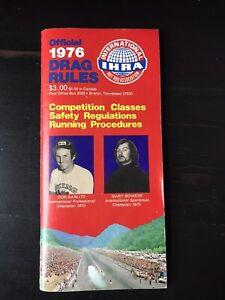 VINTAGE 1976 IHRA DRAG RULES BOOKLET