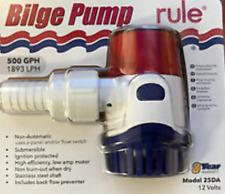 Rule 25Da Non-Automatic Bilge Water Pump 500Gph 12V Boat Marine Fontian Subme Md
