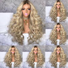 Women Curly Long Wig High Density Wigs Cosplay Party Synthetic Natural Hair