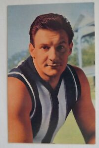 Collingwood AFL-VFL Vintage 1964 Mobil Card Printed Autograph Ray Gabelich