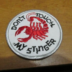 VINTAGE DON'T TOUCH MY STINGER SCORPION SNOWMOBILE EMBROIDERED PATCH