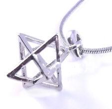 Merkaba Collar Colgante 3d Estrella De David Magen Kabbalah Plata Judaica Merkava