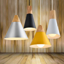 Modern Wooden Ceiling Pendant Chandelier Light Drum Lamp Shade Lampshades Lights