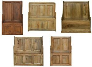 AF Range : Solid Wood Monks Bench Druids Pew : Storage : Hallway : Large & Small