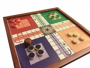 The Mind Challenge Magnetic Ludo Travel Board Game Handmade Wooden Classic Ludo