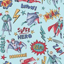 Supereroe Carta da parati Blu - Arthouse 696200 Ragazzi