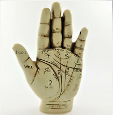 Palmistry Hand Figurine Statue Ornament Sculpture Wall Plaque Small