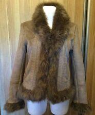NOON en cuir synthétique veste artificiel fourrure chaud femme manteau veste taille 38 m s