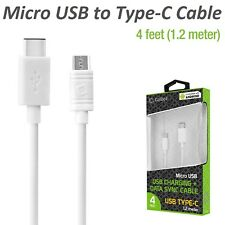 Cellet Micro USB to Reversible USB Type-C Charger Data Sync Cable for Cell Phone
