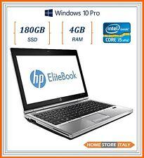 """pc portatile notebook usato ricondizionato 12.5"""" RAM 4GB SSD 180GB HP 2570p i5"""