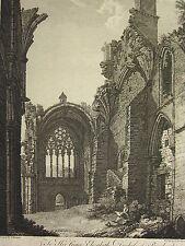 1780 datato antico stampa ~ transept Melrose Abbey Thomas Hearne WILLIAM BYRNE