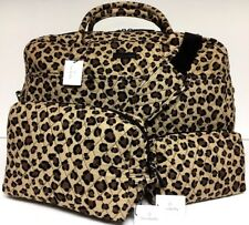 Vera Bradley LEOPARD WEEKENDER & COSMETIC SET Travel Bag Duffel Large NWT
